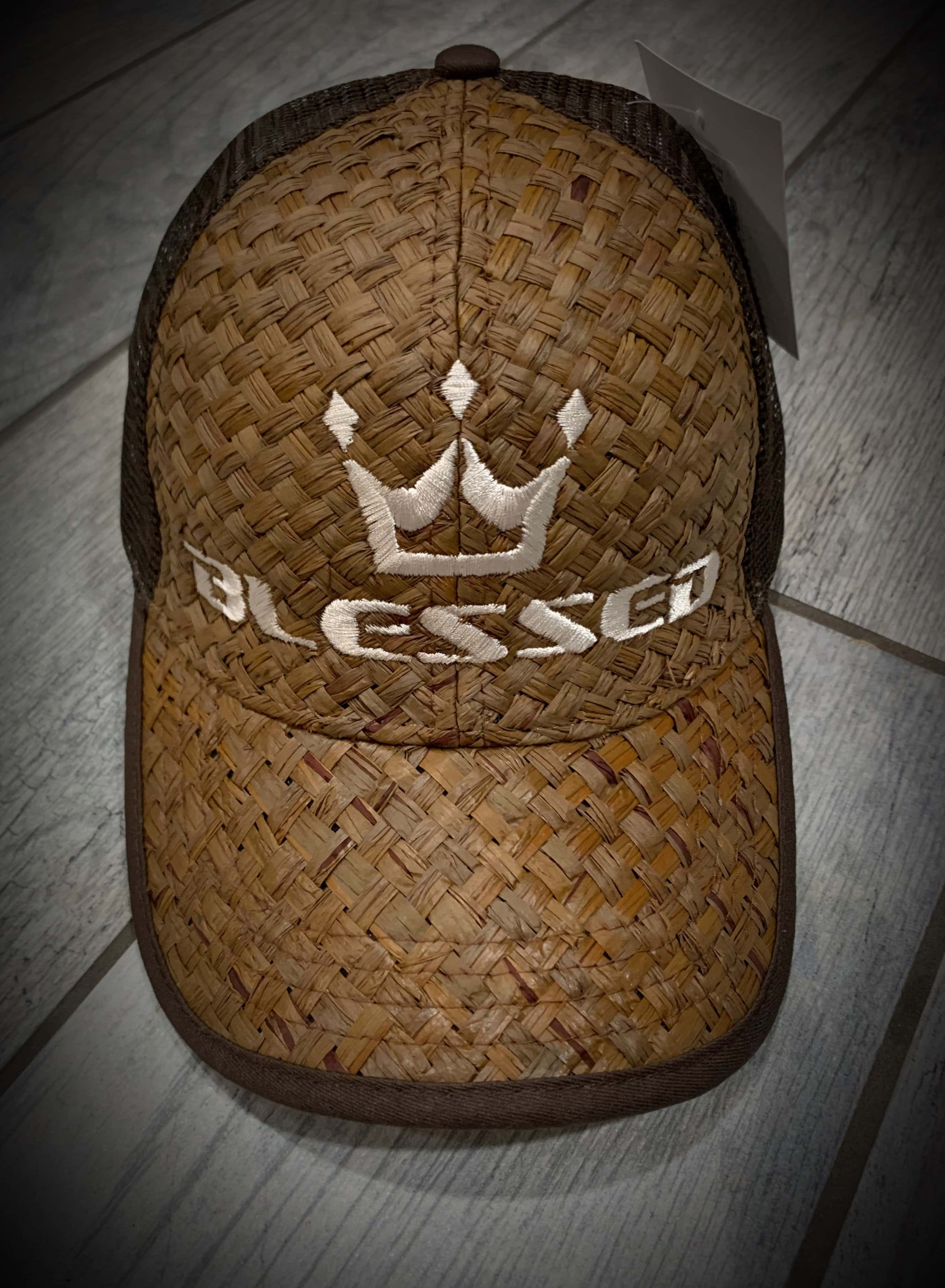 "Blessed Woven ""lauhala style"" Cap"
