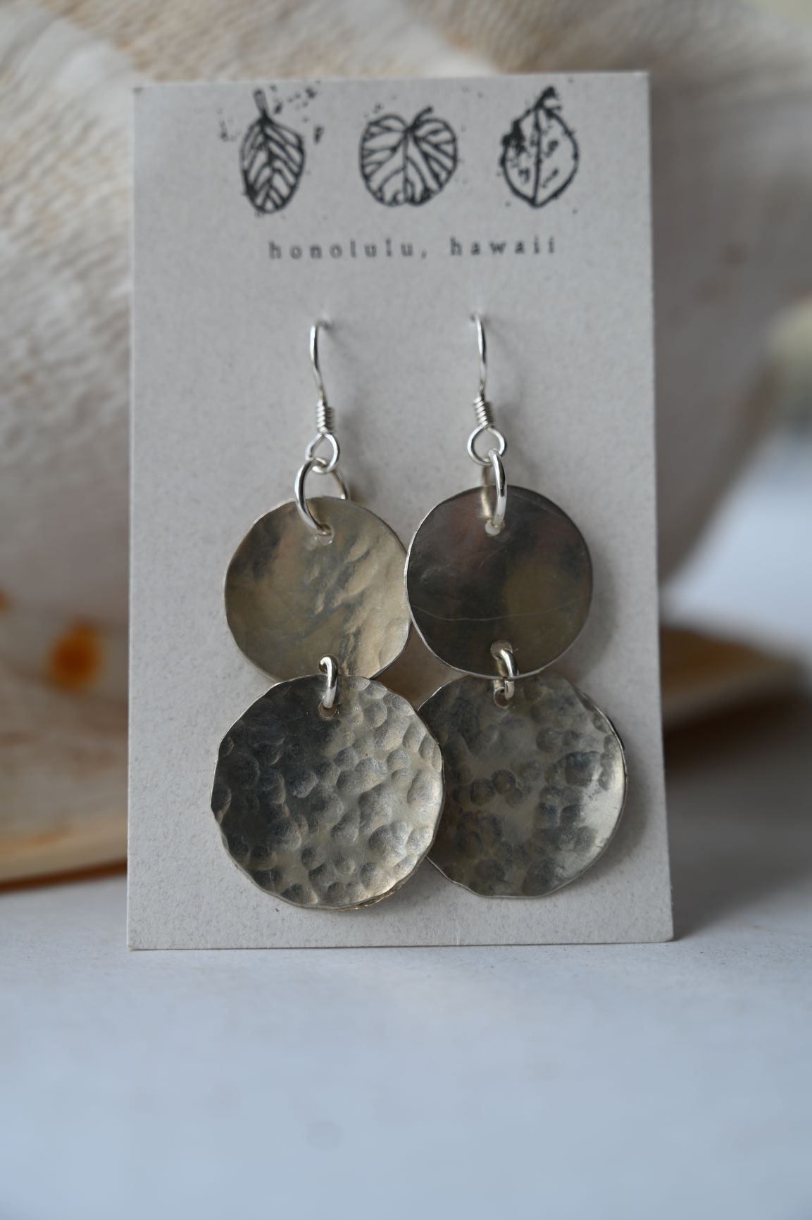 DAY-125 S - 2 Moons, Sterling Silver, Earrings