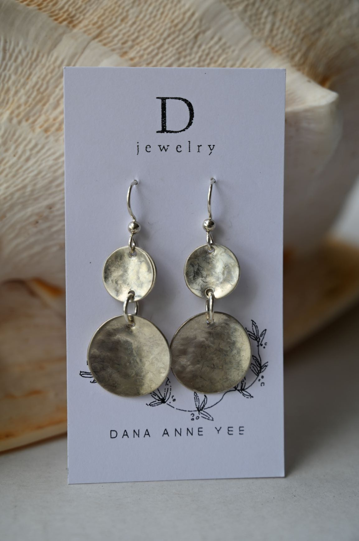 DAY-126 S - 2 Moons, Sterling Silver, Earrings
