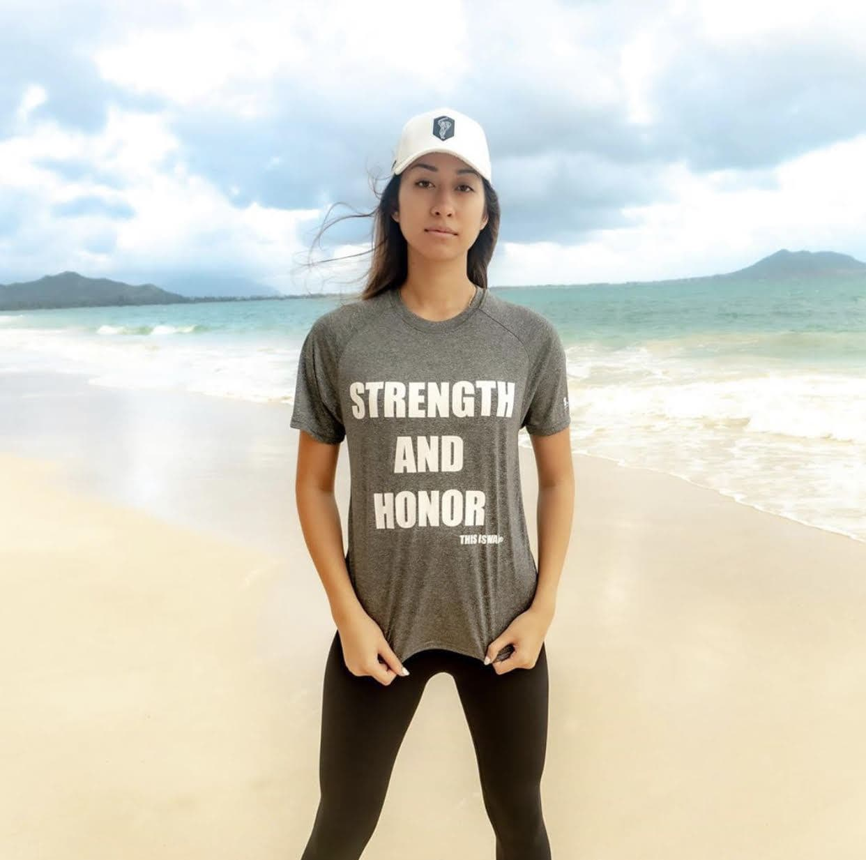 Dry Fit Strength And Honor Shirt Heather Gray