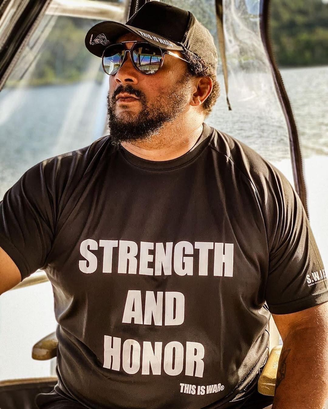 Dry Fit Strength And Honor Shirt Black