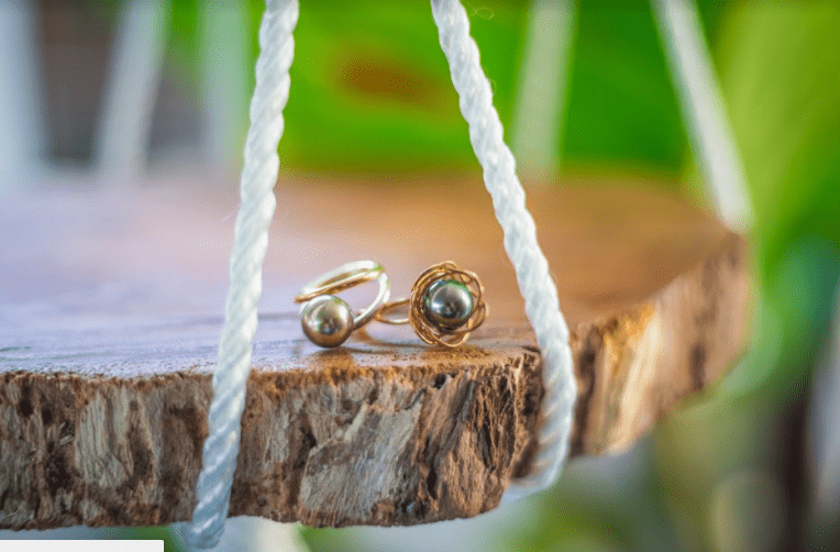 Tahitian Pearl Ring: Silver & Gold Filled