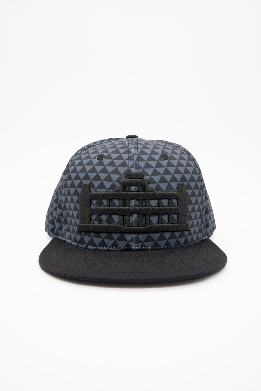Gray Triangle & Black Palace Hat