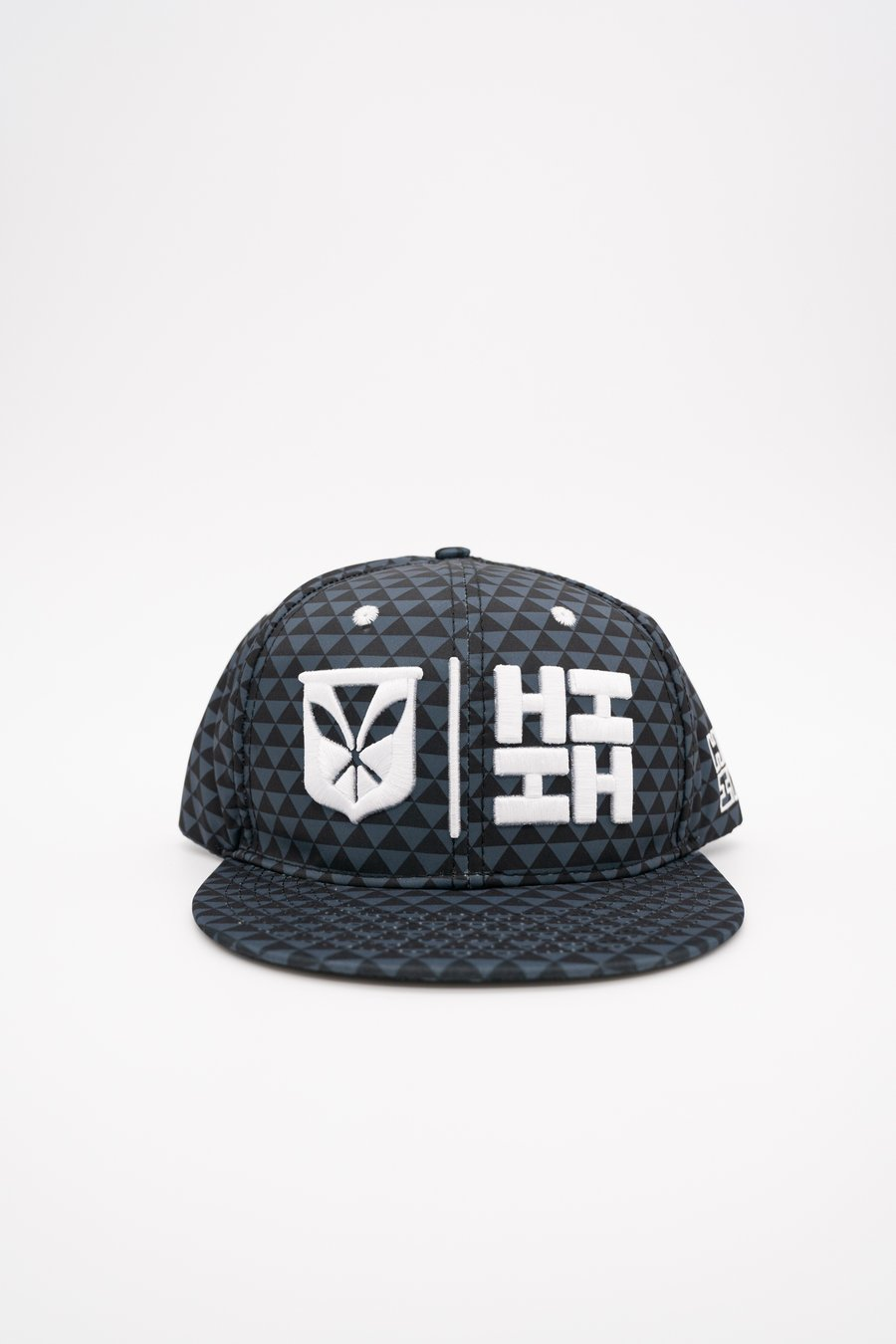 Gray & Black Triangle Simple Logo Hat