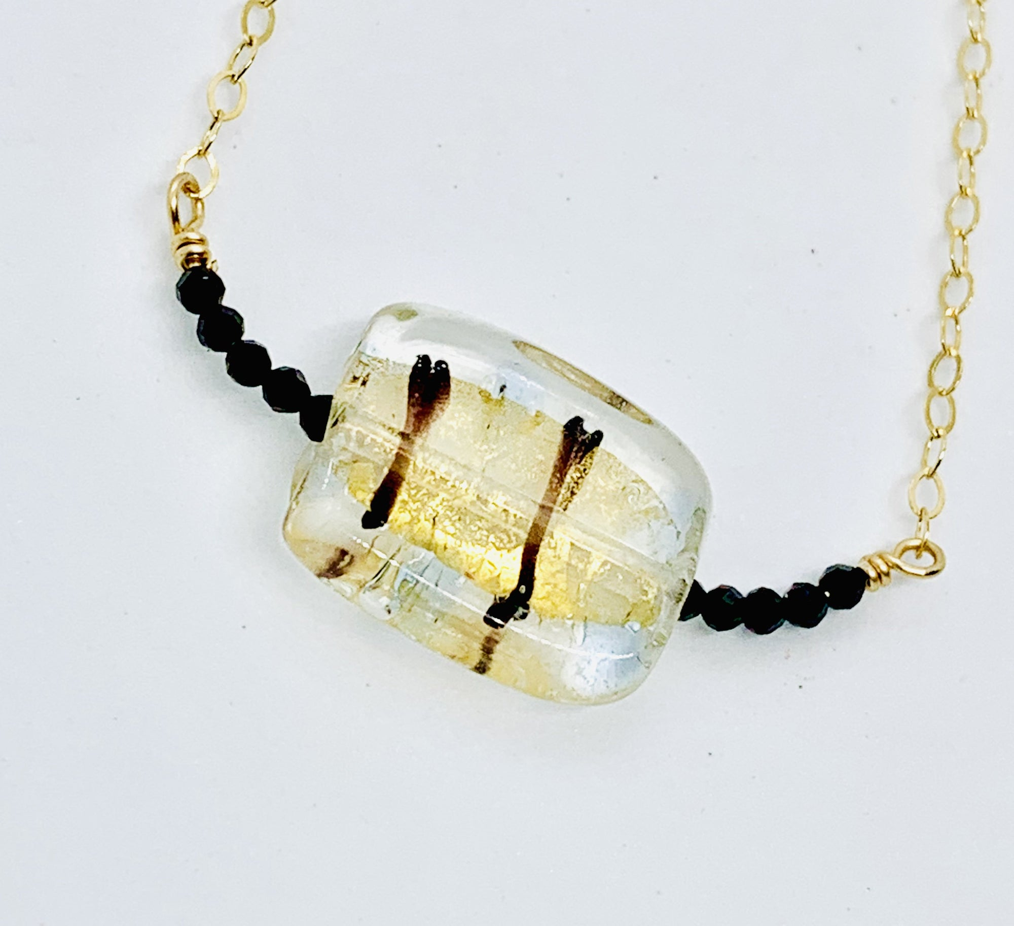 Gold Infused Glass Necklace