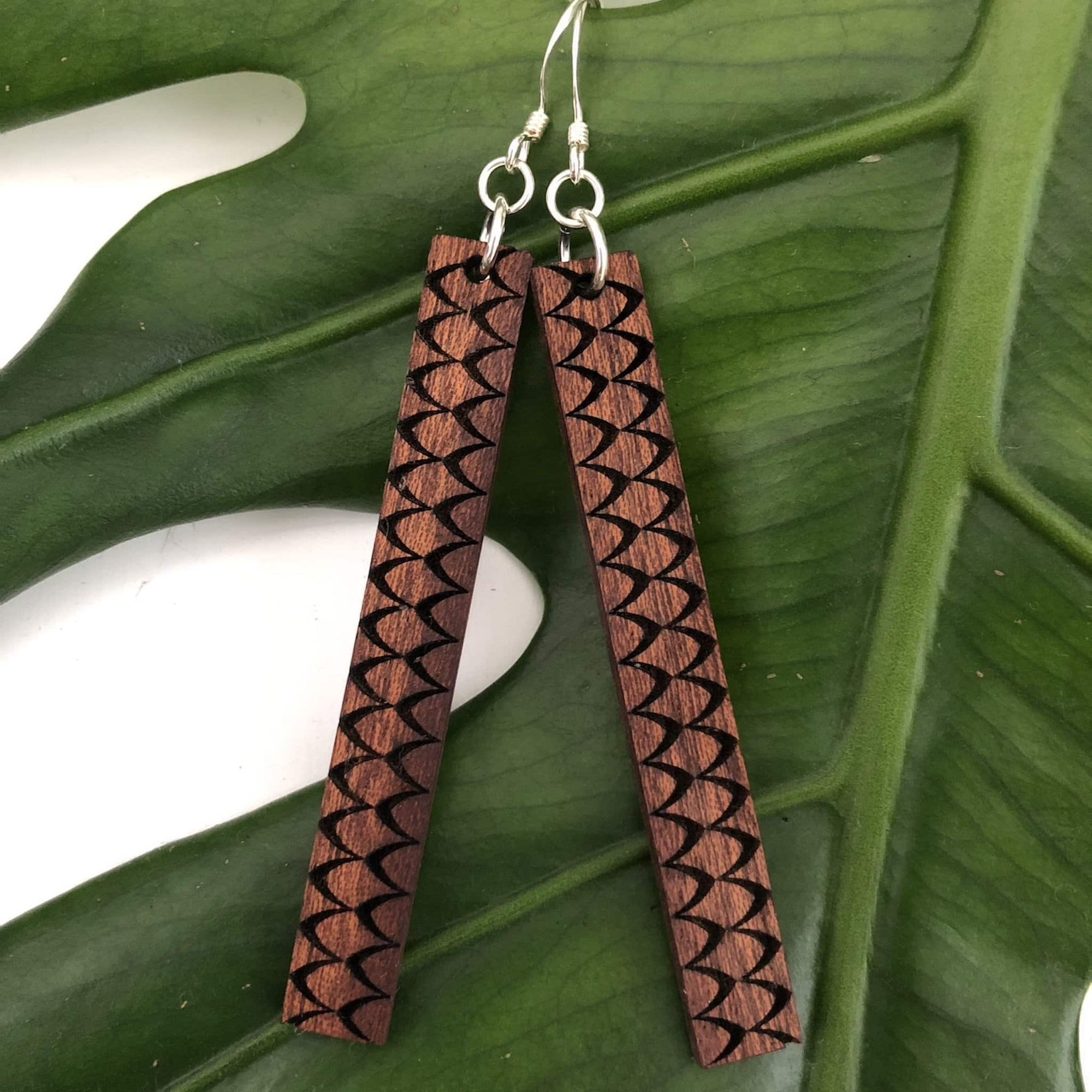 Hulu Hawaiian Koa Wood - 14k Gold filled Earrings