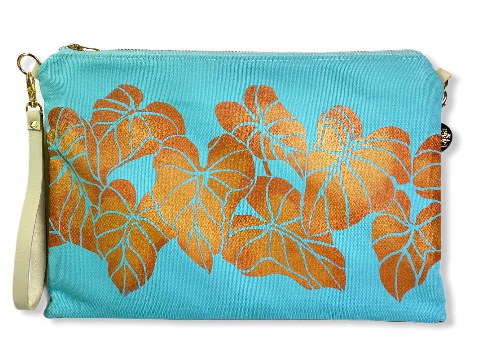 Kalo Crossbody Bag: Mint w/ Copper