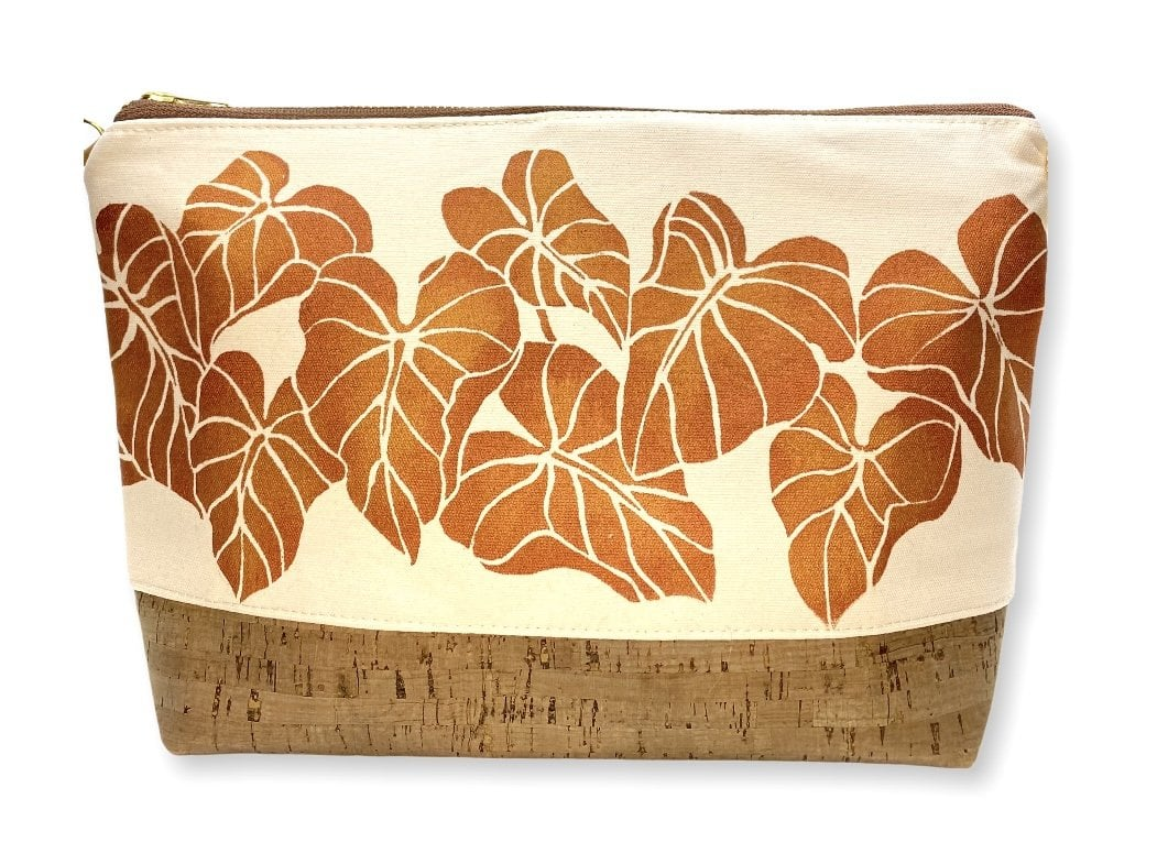 Kalo Large Purse: Canvas w/ Copper
