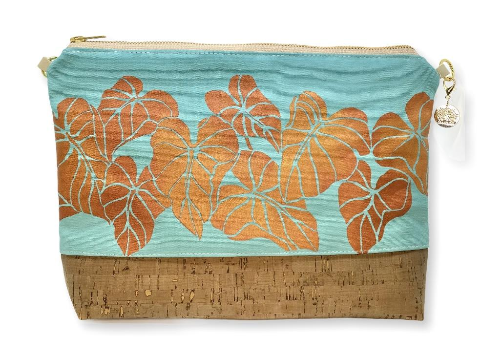 Kalo Large Purse: Mint w/ Copper