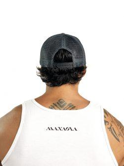 MANAOLA LOGO TRUCKER HAT GRAY