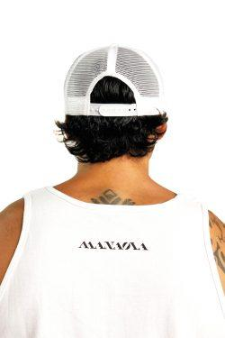 MANAOLA LOGO TRUCKER HAT WHITE