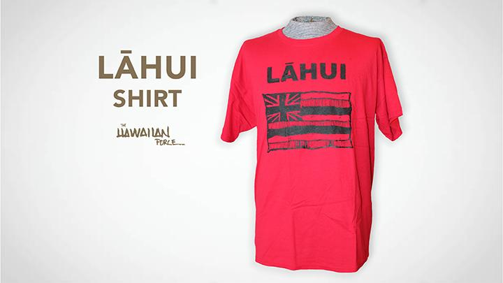 Lahui T-shirt - Black on Red