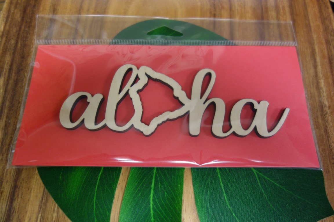 Laser Cut Aloha Big Island Wood Cut Out
