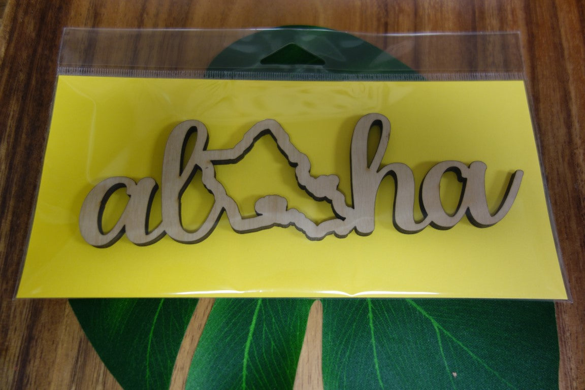Laser Cut Aloha O`ahu Wood Cut Out