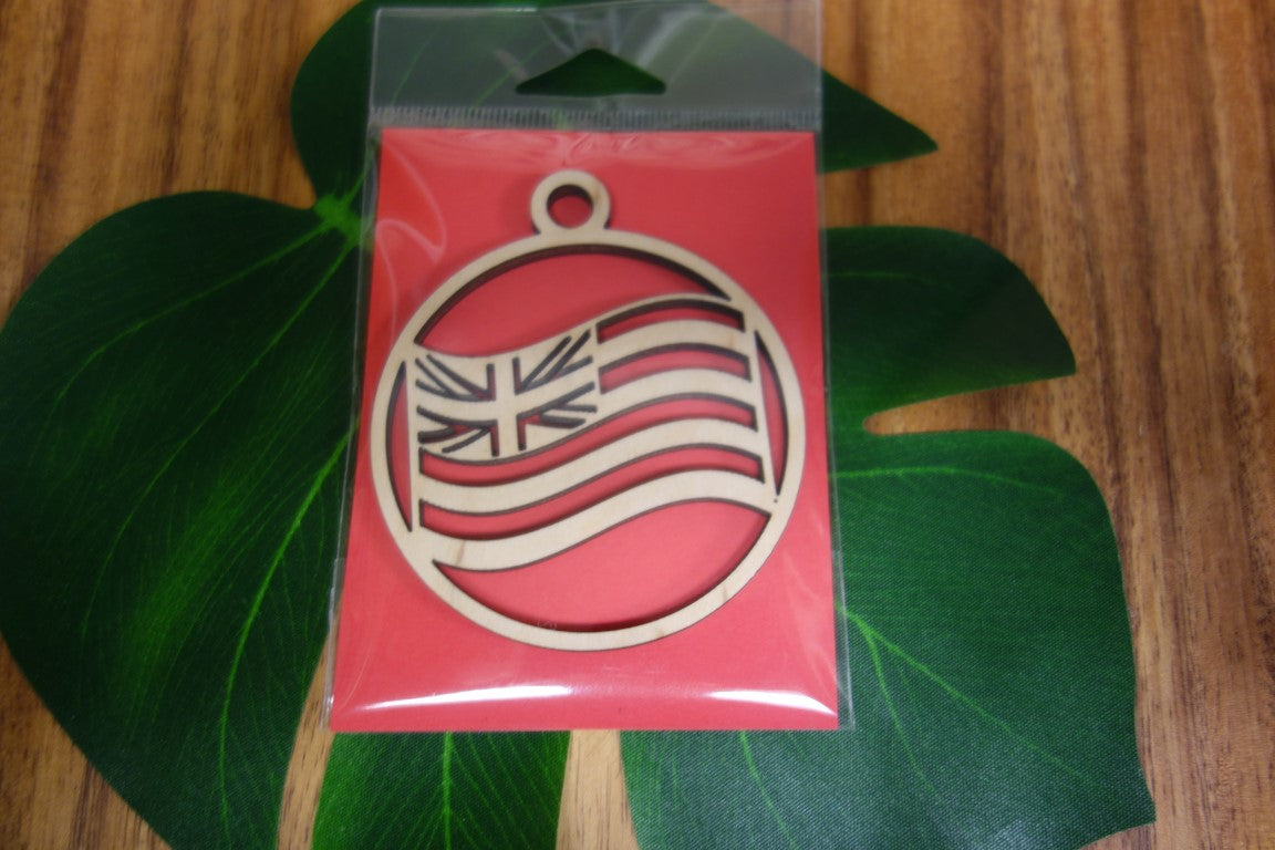 Laser Cut Hawaiian Flag Ornament