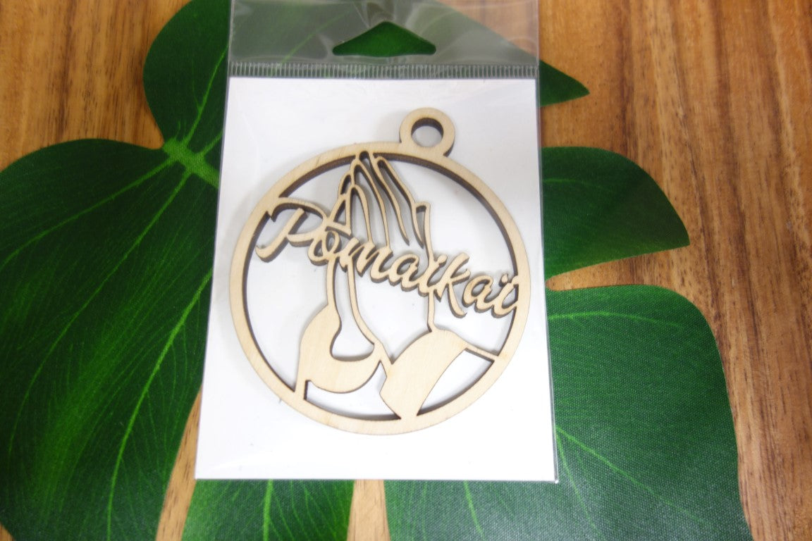 Laser Cut Pomaika I Prayer Hands Ornament