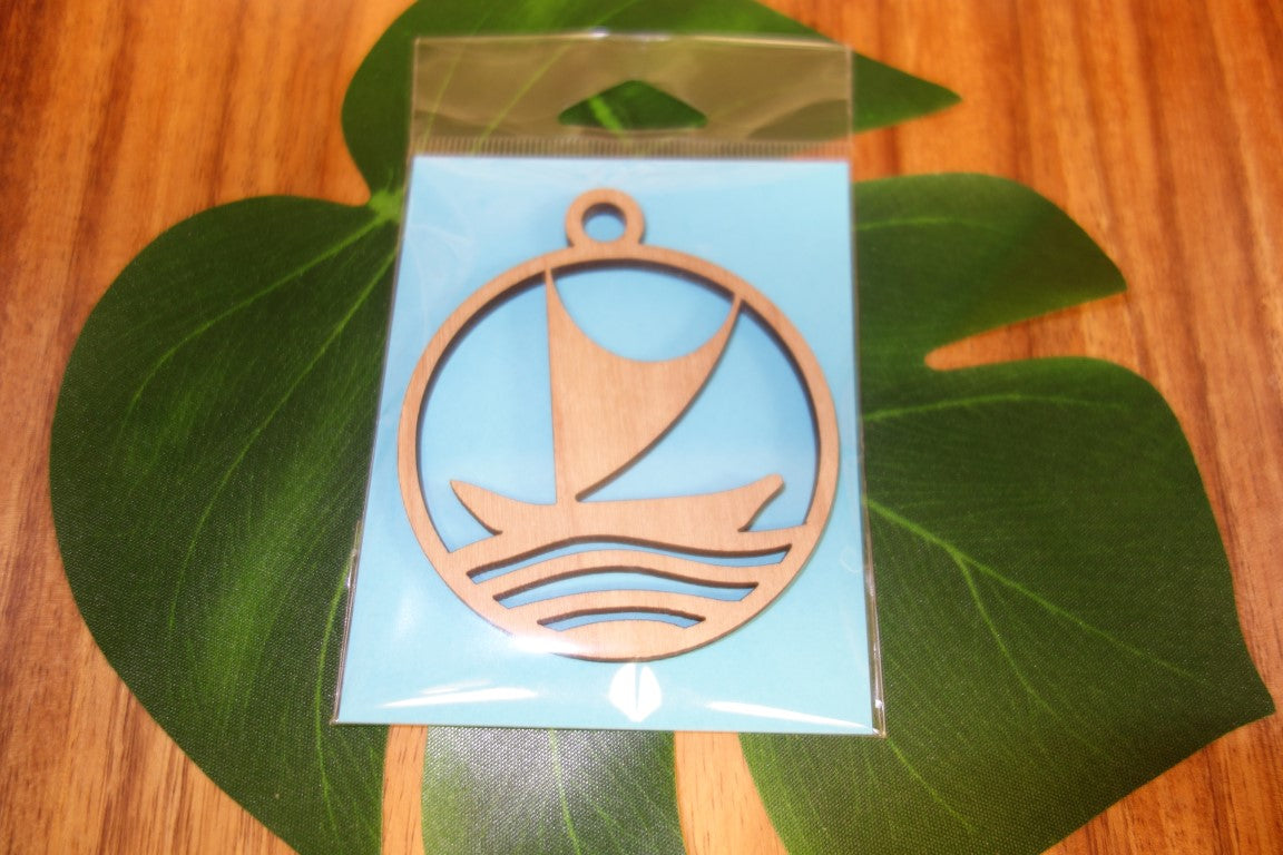 Laser Cut Voyaging Canoe Ornament