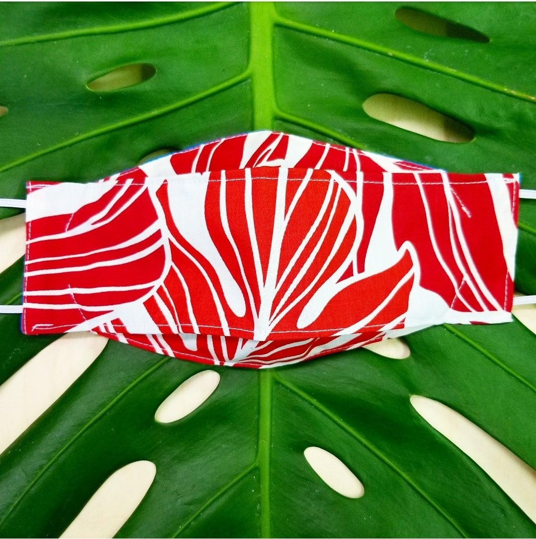 3D Mask  Keiki Monstera Red