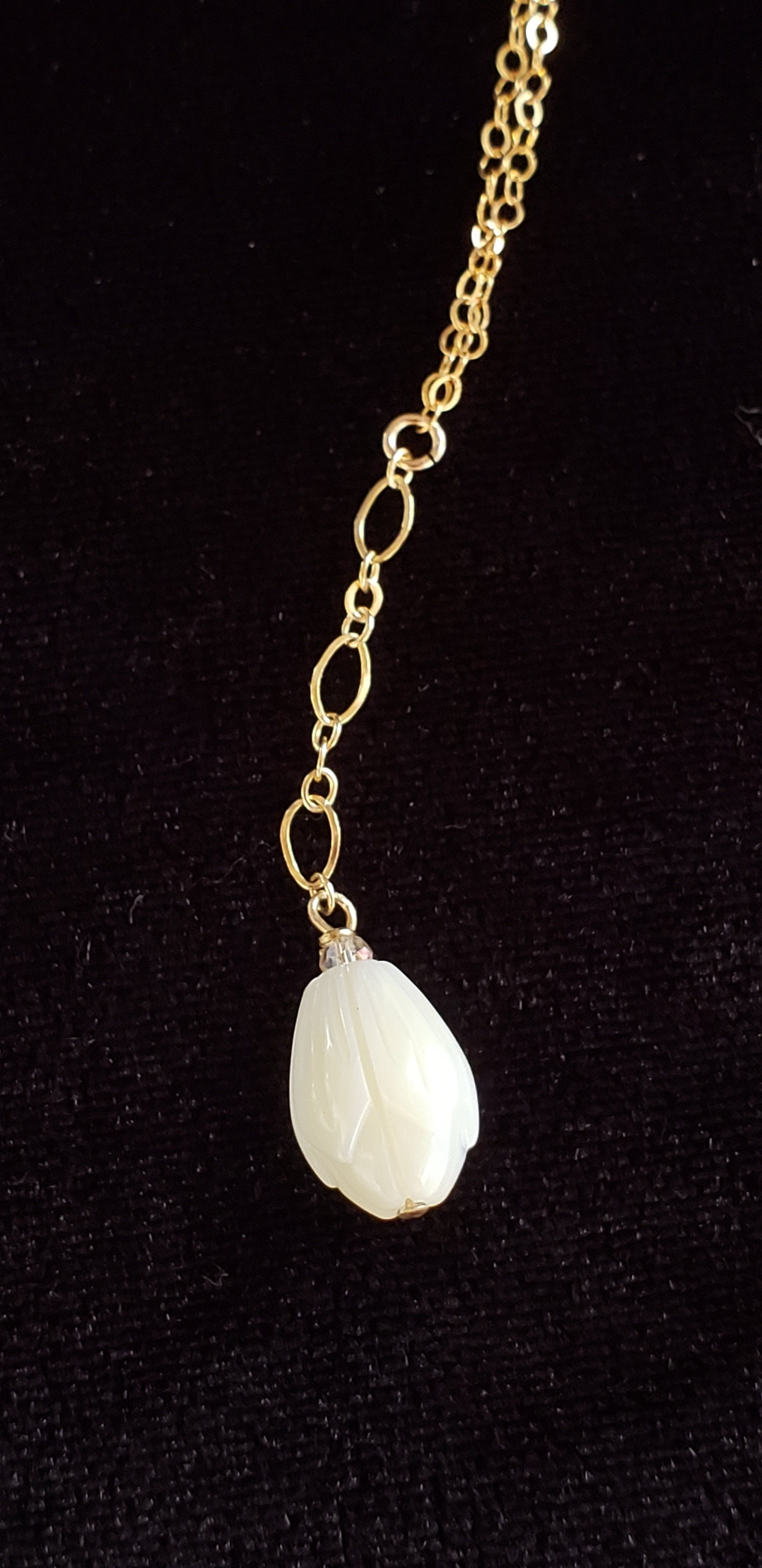Mother of Pearl Pikake Pendant on 14k Gold-filled Chain