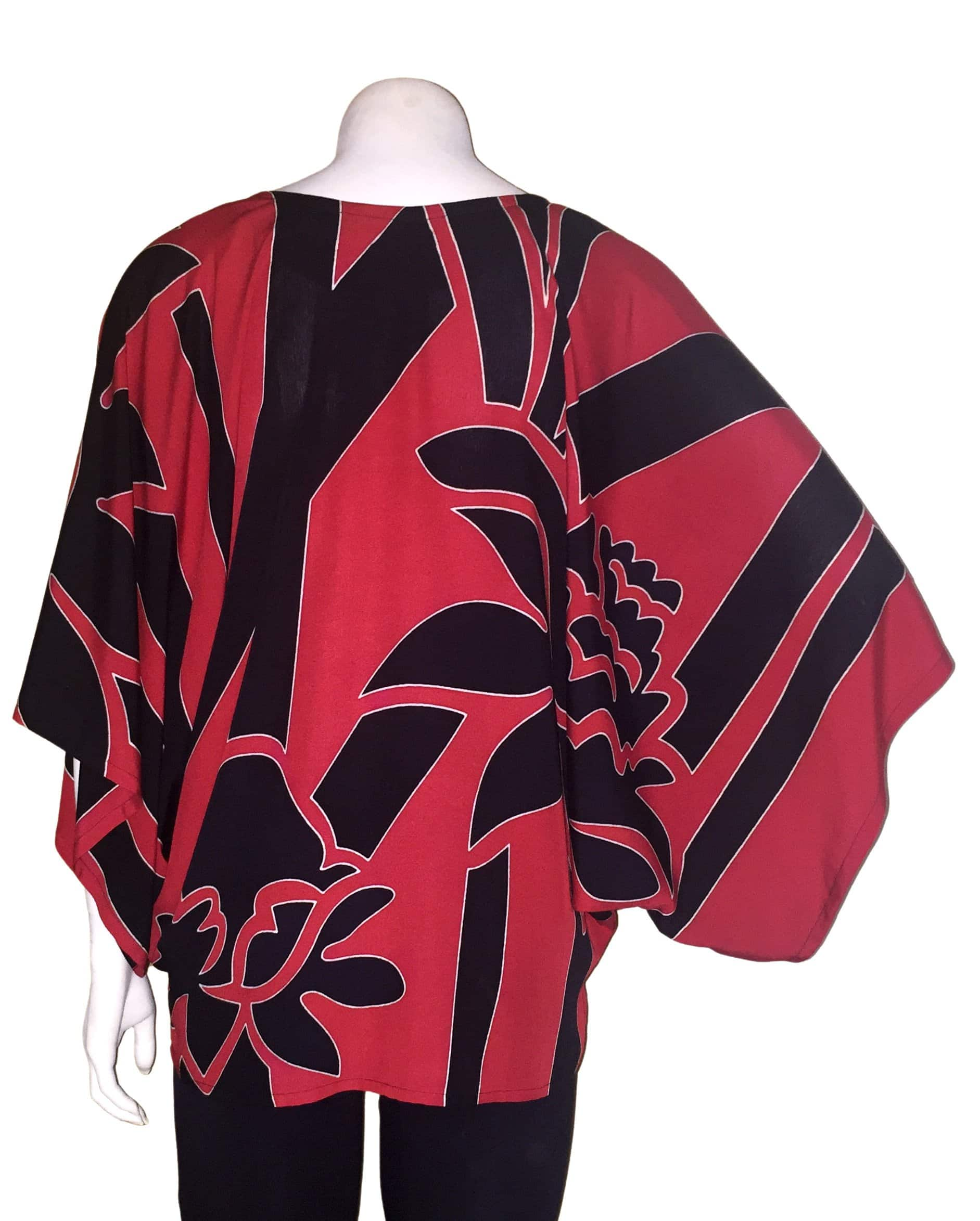 Nalu Top: Red/Black