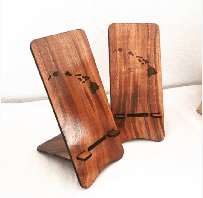 Koa Phone Holder - Islands