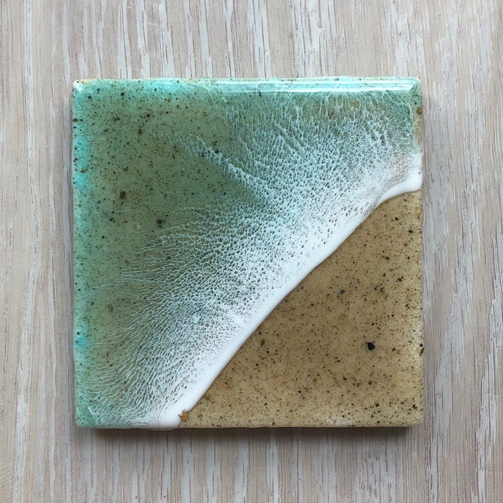 Resin Beach Coaster Teal
