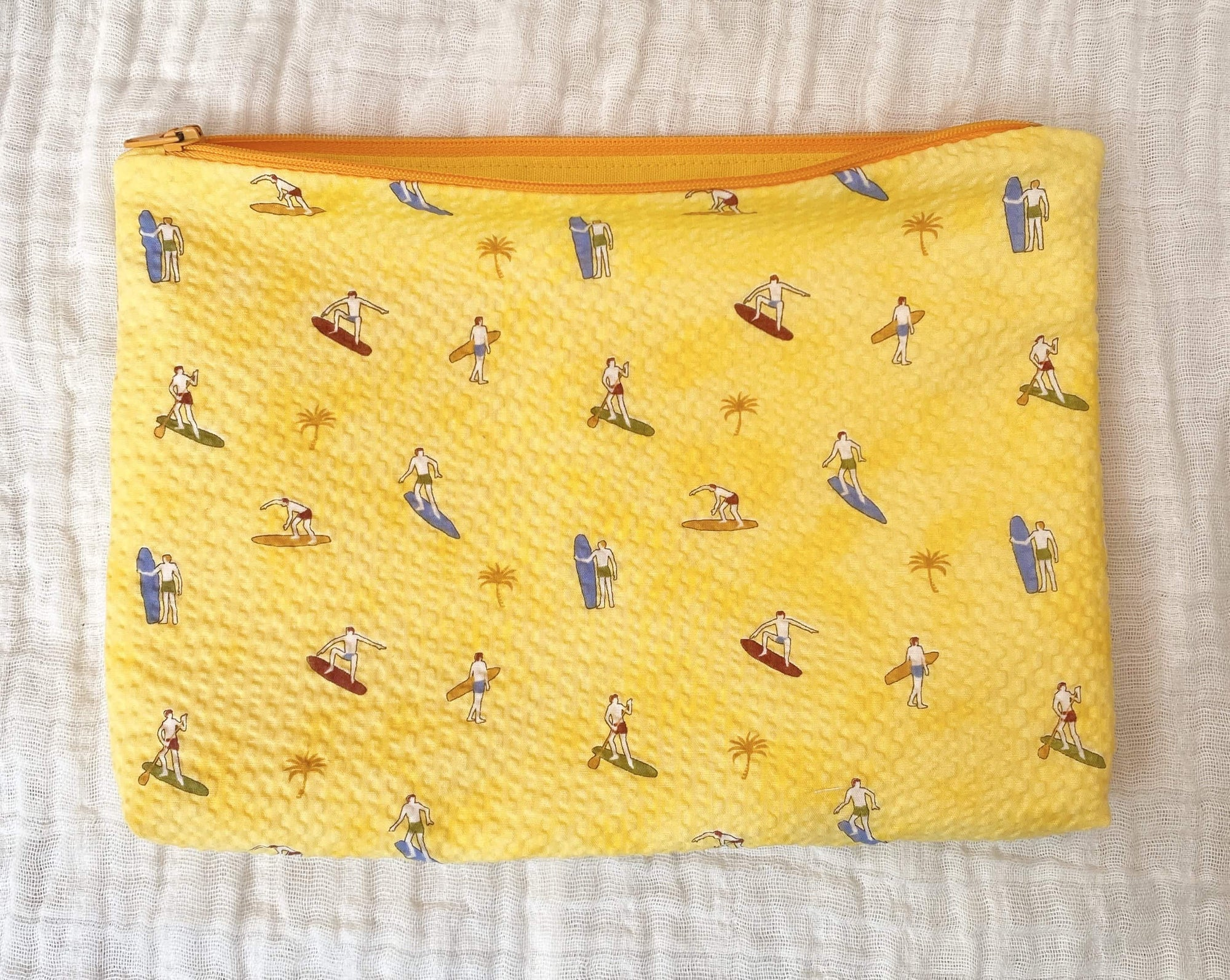 Crystal Rose Label: Sunshine Surfer Soft Zippered Pouch - Yellow