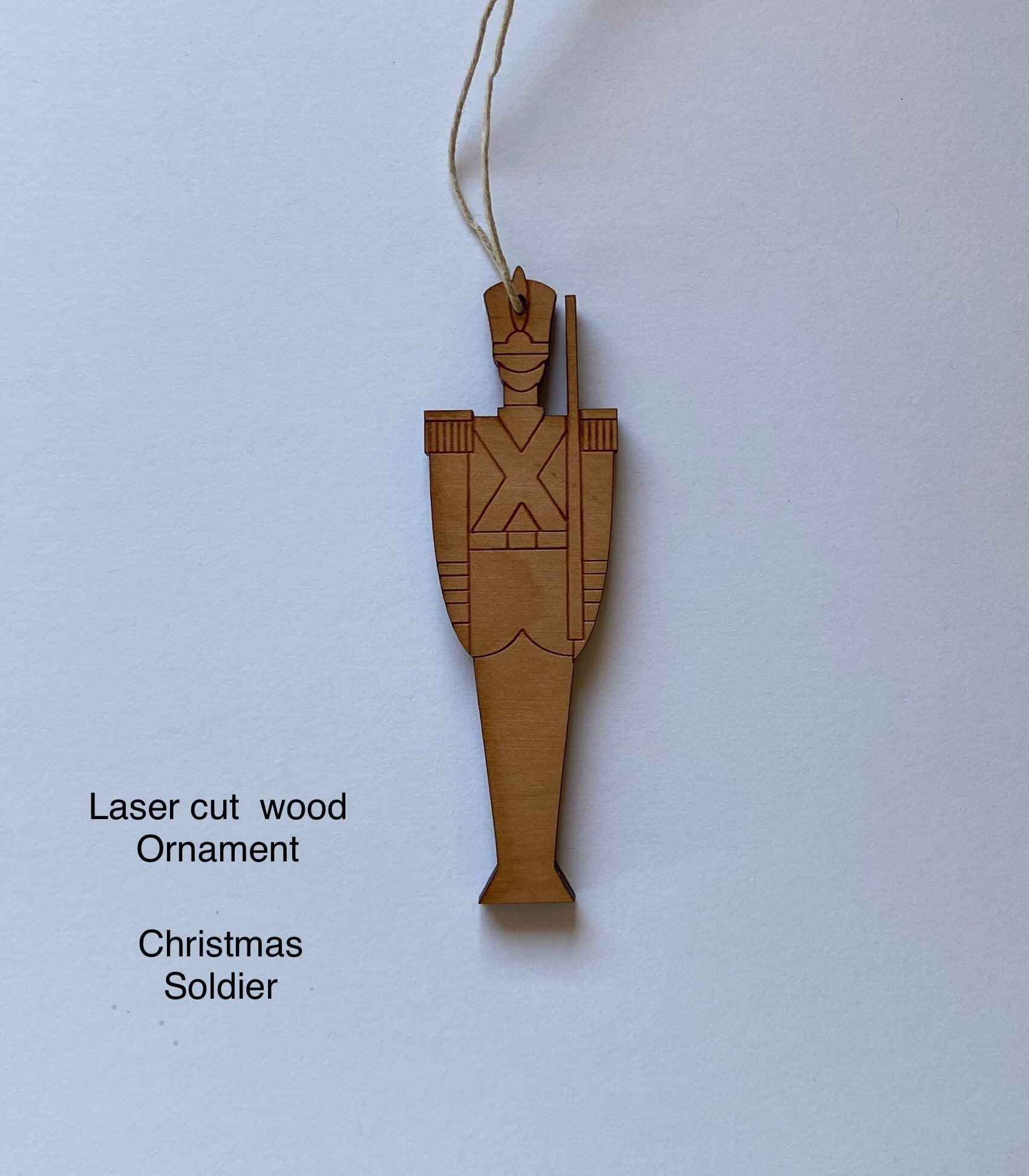 Wood Ornament: Christmas Soldier