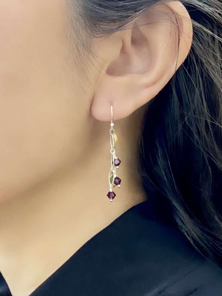 Contemporary Maile Dangle Earrings - Violet
