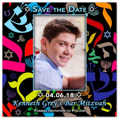 Bar Mitzvah Photo Magnet | Colorful Mitzvah | MAGNETQUEEN