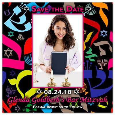 Bat Mitzvah Photo Magnet | Colorful Mitzvah | MAGNETQUEEN