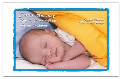 Birth Announcement magnet - MAGNETQUEEN