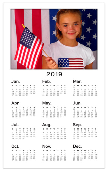 Personalized Photo Calendar Magnets | Vertical