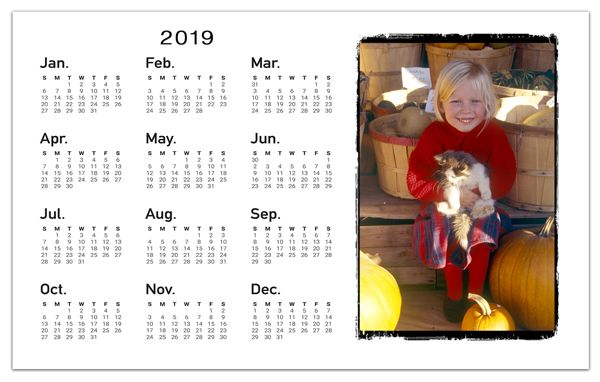 Picture Calendar Photo Magnets Rough Edge