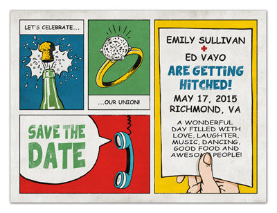 Vintage Save the Date Magnets | Let's Celebrate | MAGNETQUEEN