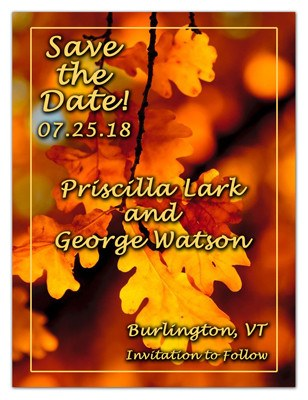 Autumn Wedding Save The Date | Orange Blossom