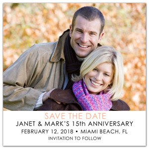 Anniversary Photo Invitations | Fab Chic