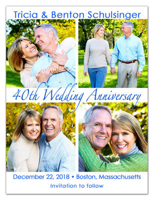 Anniversary Save The Date Magnets | Four Squared | MAGNETQUEEN