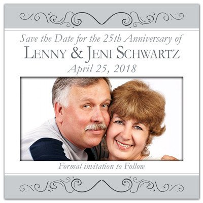 Silver Anniversary Photo Magnets | Silver Anniversary | MAGNETQUEEN
