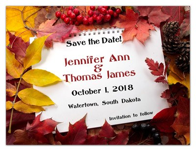 Autumn Save the Date Magnets | Autumn Framed