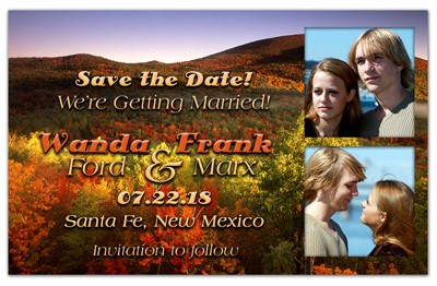 Fall Save The Date Magnets | Fields and Mountains | MAGNETQUEEN
