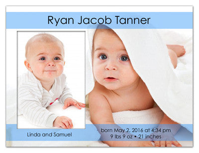 Birth Announcement Magnets | Fun Doubled | MAGNETQUEEN