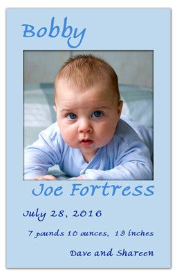 Magnet Birth Announcements | Baby Soft Boy | MAGNETQUEEN