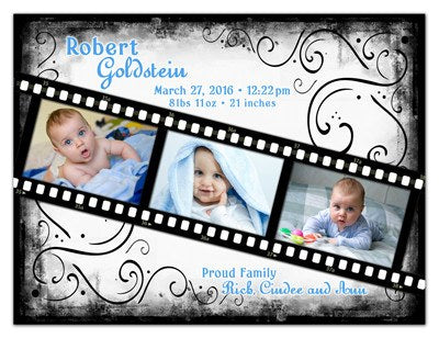 Personalized Photo Birth Announcements | Film Strip Boy | MAGNETQUEEN