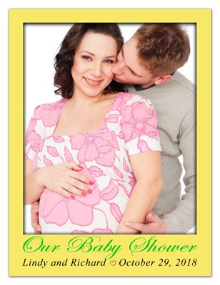 Baby Shower Photo Magnets |<br> In The Beginning - MAGNETQUEEN