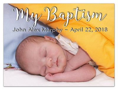 Baptism Photo Magnet | My Baptism | MAGNETQUEEN