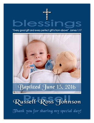 Baptism Magnet Photo | Blessings Boy | MAGNETQUEEN