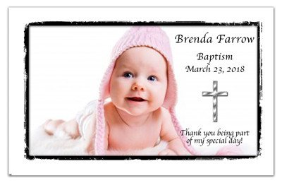 Baptism Announcement Magnets | Classically Framed | MAGNETQUEEN