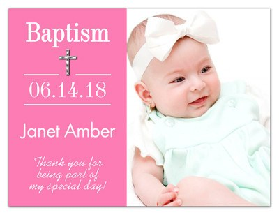 Personalized Photo Baptism Favor | Beginning