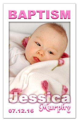 Baptism Photo Magnets | Squares Girl | MAGNETQUEEN
